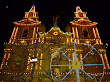 this are church in mellieha, all lit up for the festa,malta,8 september
