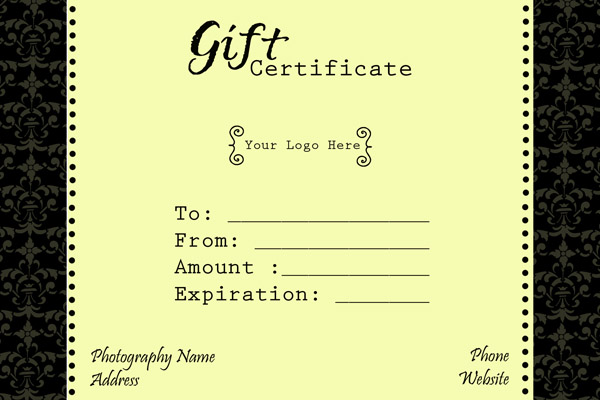Gift Certificate Template. Free Gift Certificate Template