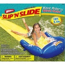 Slip 'n' Slide. See the child? See how the size of the child is ...