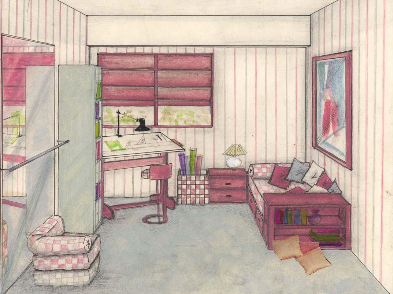 Delineante y t cnico de decoraci n de interiores for Diseno de interiores dibujos