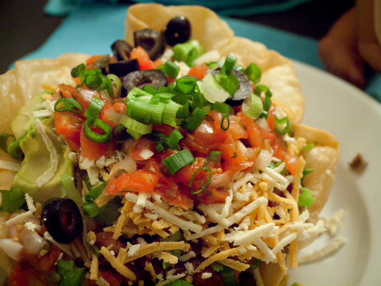 Fried Taco Salad Bowl Taco salad: guesting and
