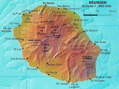 La Réunion carte géologique