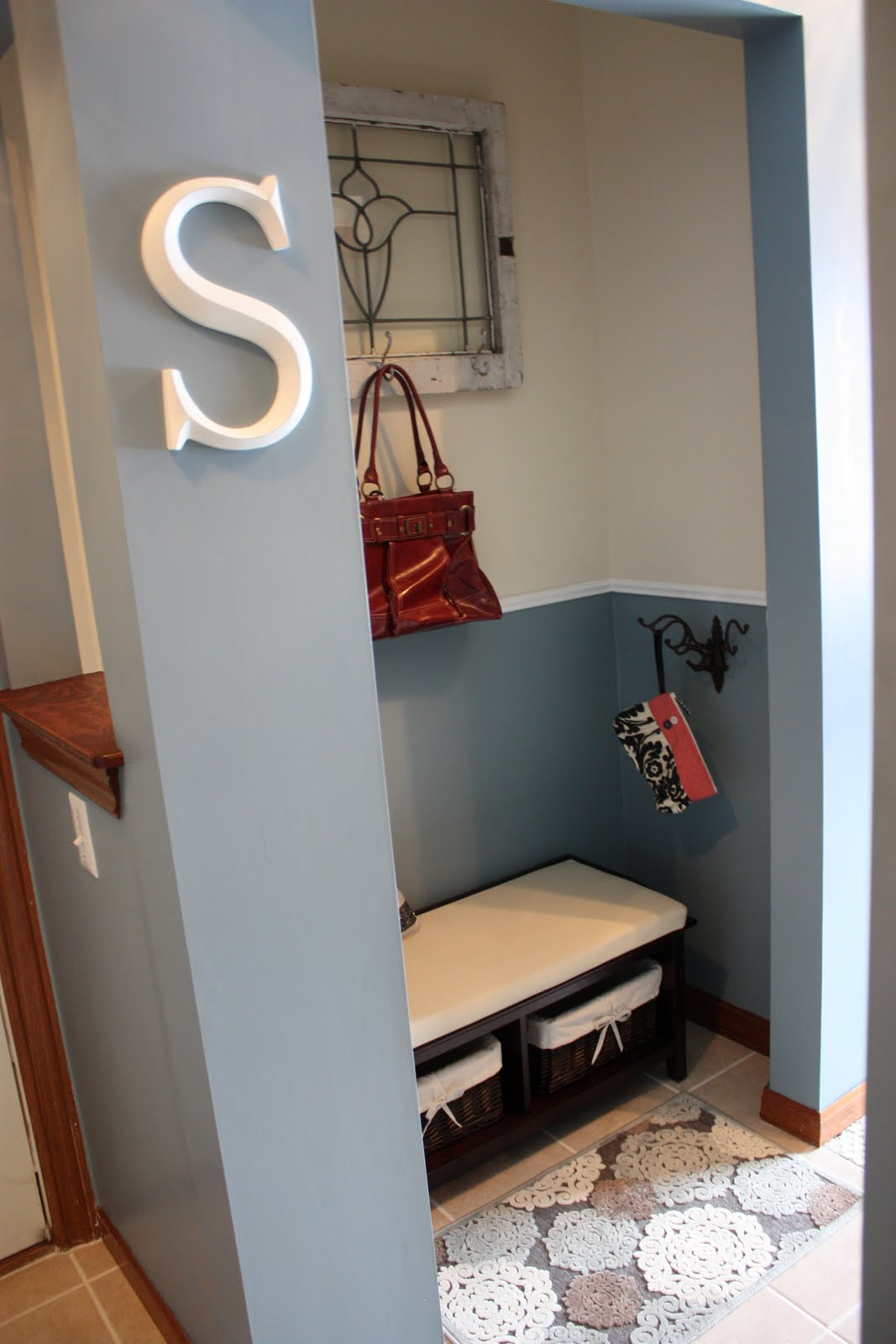 the mistress of oxford  closet turned mudroom  entryway
