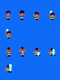 Sprites Dragon Ball Z compatível com Rm xp Gotenksupdown