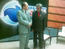 Os radialistas Sérgio Melo e Ivan Gonzaga