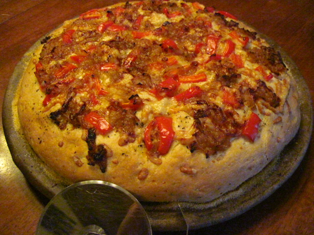 Sweet Onion and Red Pepper Focaccia Recipe