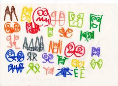 L'alphabet des expressions (Matthieu, décembre 2008).