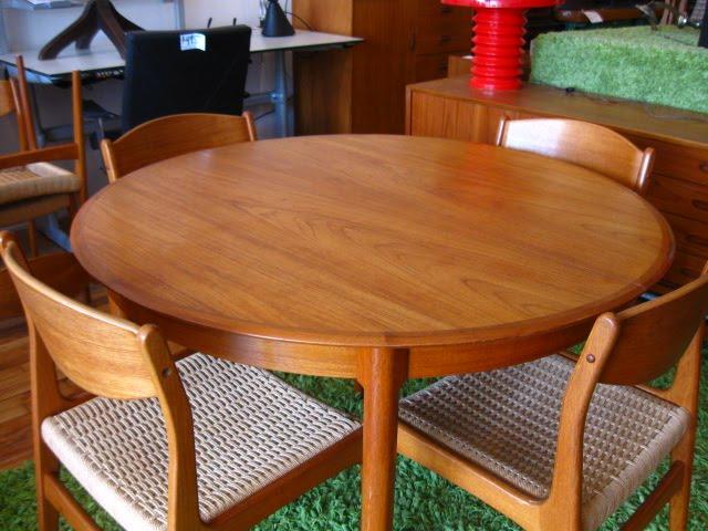 used vintage mid century furniture round teak dining table sold