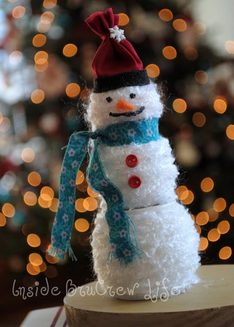 Easy Yarn Snowman