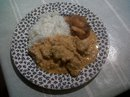 National curry day:  Day 2:  Pork and cauliflower creamy curry with spiced apple chutney