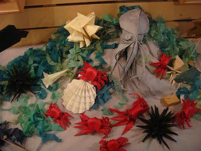 coquille saint jacques pieuvre crabes origami