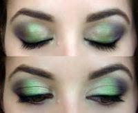 Machiaje in nuante de verde