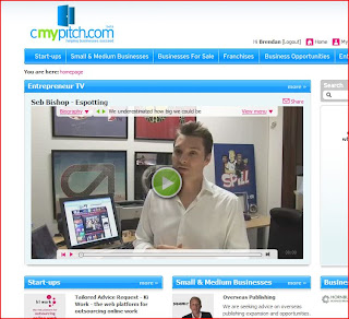 snapshot of cmypitch.com homepage