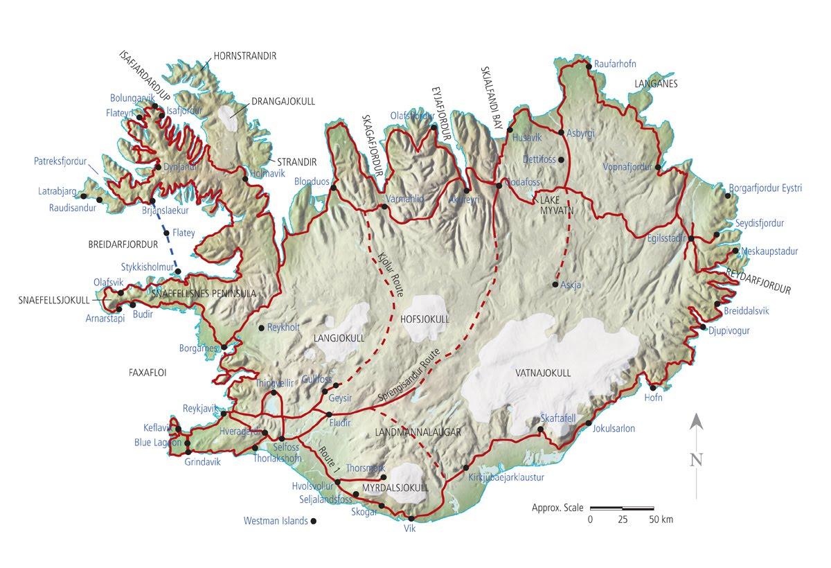 Carte Islande Interactive