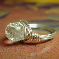 sterling silver crystal wrapped ring etsy