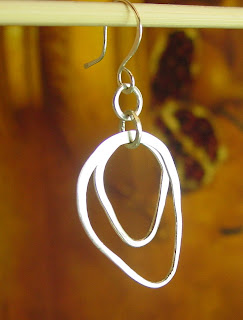 sterling silver organic earrings jewelry etsy