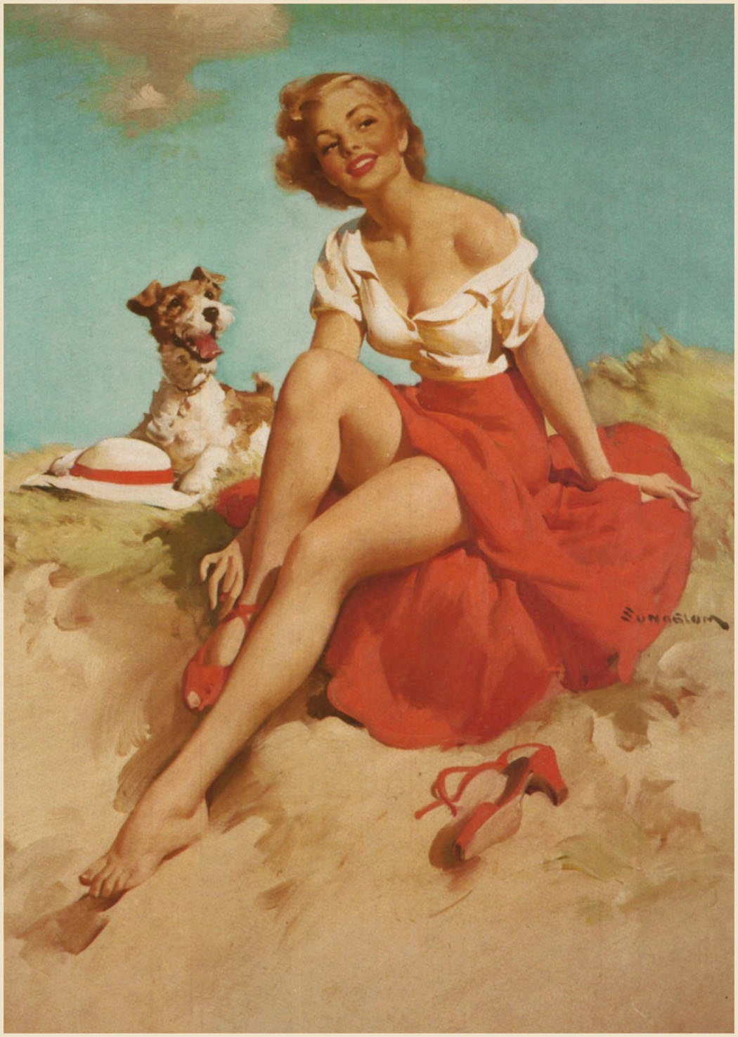 Wartime Pin Up