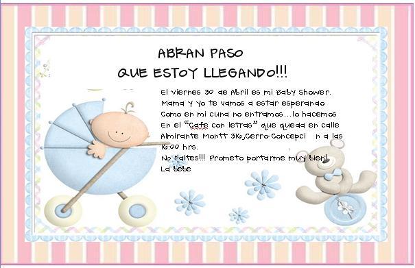 Ducha del bebé invitacion