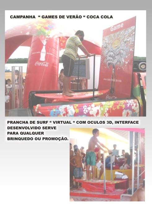 PRANCHA DE SURF VIRTUAL COM OCULOS 3D