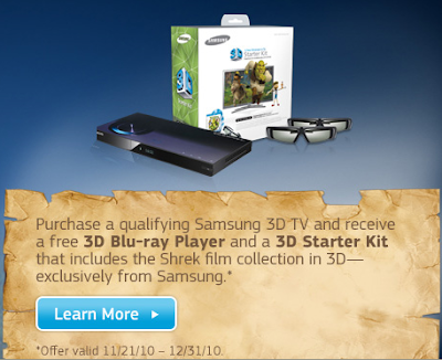 Free Samsung 3D Blu Ray Player