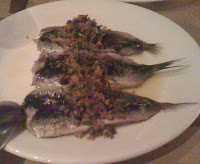 eating sardines at A16