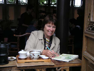 Peggy at the Lu San Teahouse