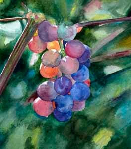 September Vines, watercolor by Susan K. Miller