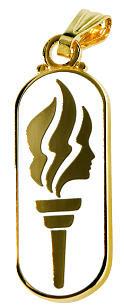 Medalhinha da tocha dourada