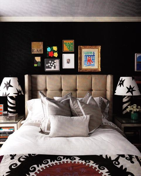 Bedroom Wall Art Inspiration Bedroom Accent Chairs Cupboard Designs For Small Bedroom Bedroom Cupboards With Mirror Designs: The New Black: Black Feature Walls : Table Tonic