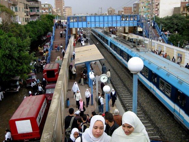 Metro del Cairo.