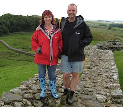 Jen and myself, Hadrian's Wall, last week!