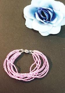 beaded bracelet, DIY beaded jewellery, pink beads, DIY beading, DIY Jewellery