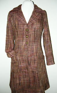 fall coat, winter coat, tweed coat, burgundy coat, jacket, handmade coat