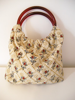 DIY handbag, DIY purse, cotton purse, small purse, round handles
