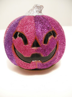 DIY Halloween, DIY Glitter Pumpkin, Embellished pumpkin, glitter Halloween