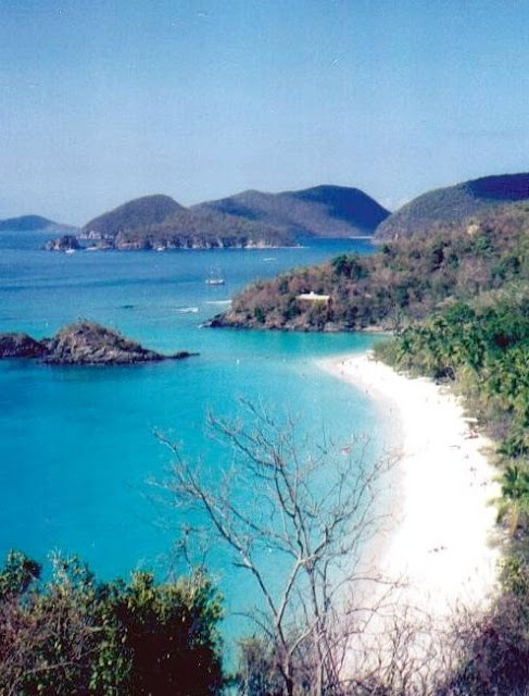 Caribbean, Beach, travel, St. John, Cruz Bay, US Virgin Islands
