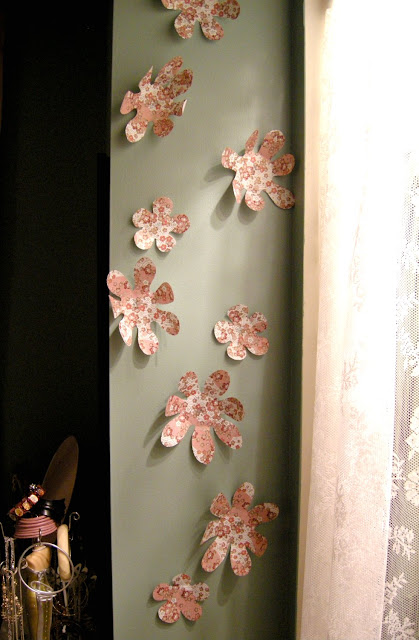 Easy Papercrafts, DIY Wall flowers, Umbra knockoff, Paper flowers, Easy crafting