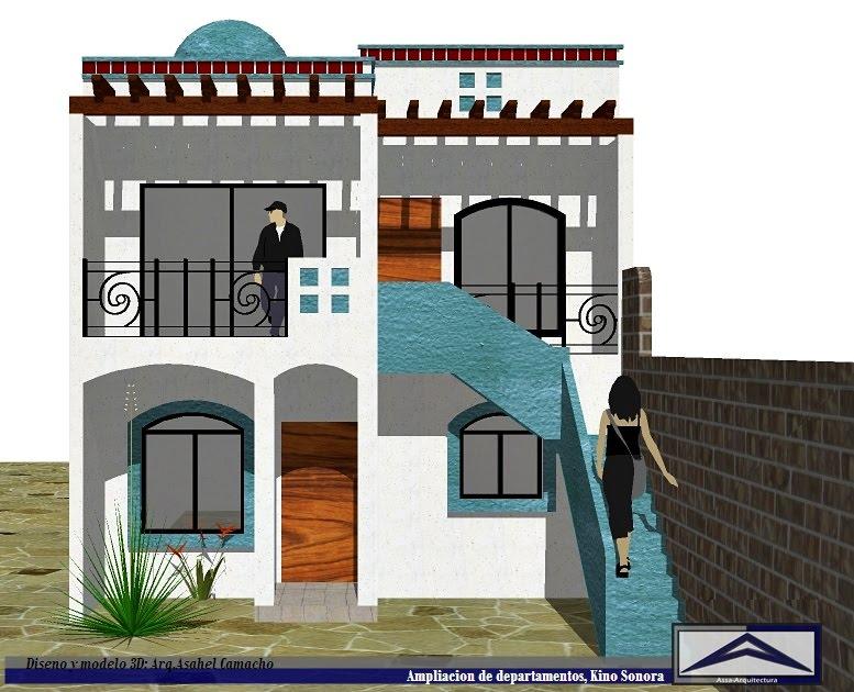 Assa arquitectura departamentos segunda planta kino sonora for Fachadas de casas para segunda planta