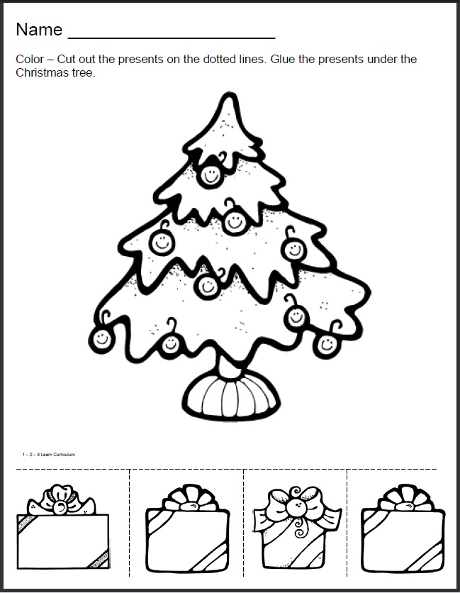 have added Christmas worksheets to the 123 Learn ONLINE web site ...