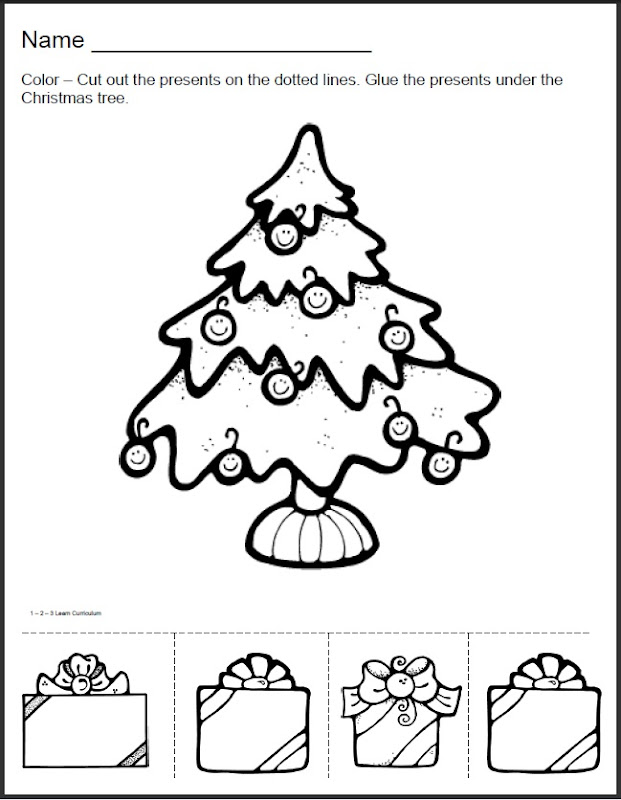 have added Christmas worksheets to the 123 Learn ONLINE web site  title=