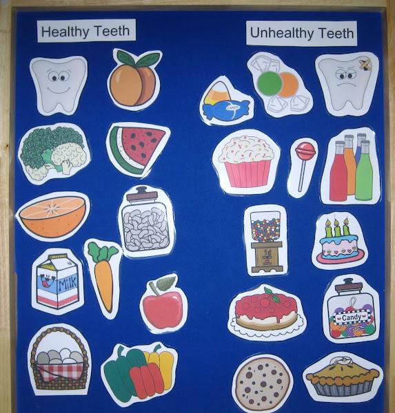 Teeth Healthy and Unhealthy Food Printables for Preschool
