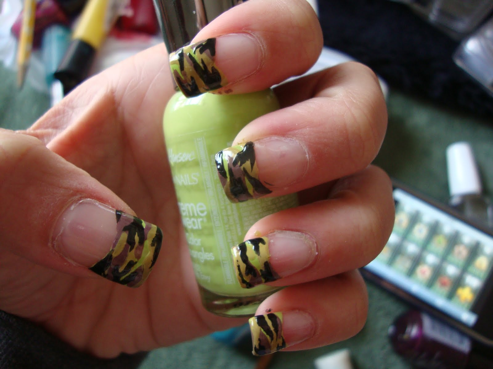 Camo french tip nail designs prinsesfo Gallery