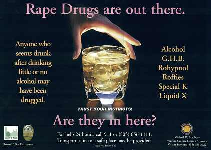 Date rape drugs in Perth