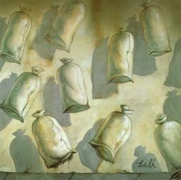 Salvador Dalí, Diseño para el ballet Los sacos del molinero, 1949