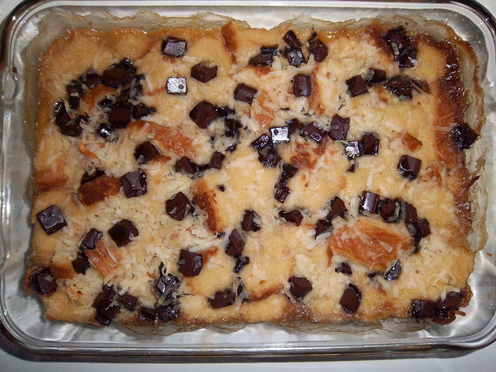 ... : Egg Free, Dairy Free, Nut Free Coconut Chocolate Chip Bread Pudding