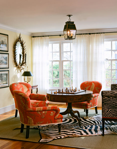 Vt interiors library of inspirational images right treatment for Small game table in living room
