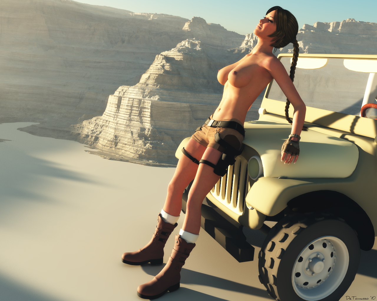 3d lara croft adult cartoons nude beautiful boobs