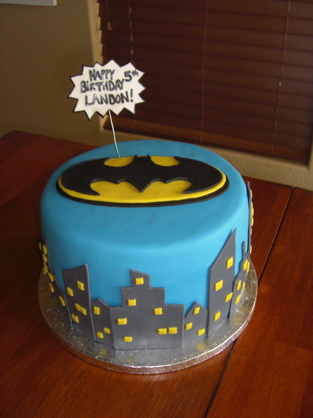 The Cake Shoppe Batman Cake