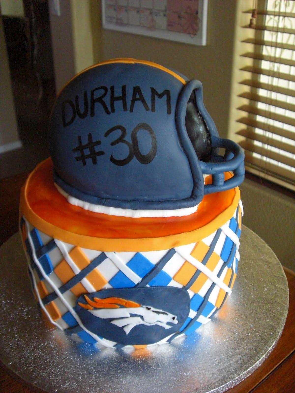 The Cake Shoppe Denver Broncos Birthday Cake