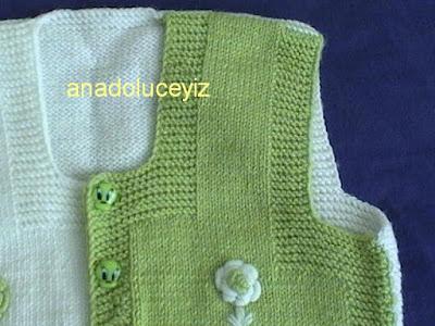 Kız bebek yeleği DVC01007